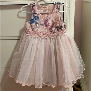 24 M blush colored tulle dress